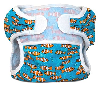Bummis swimmi Pañales de tela, Pez Payaso, Pequeño (9.15 libras) Color:
