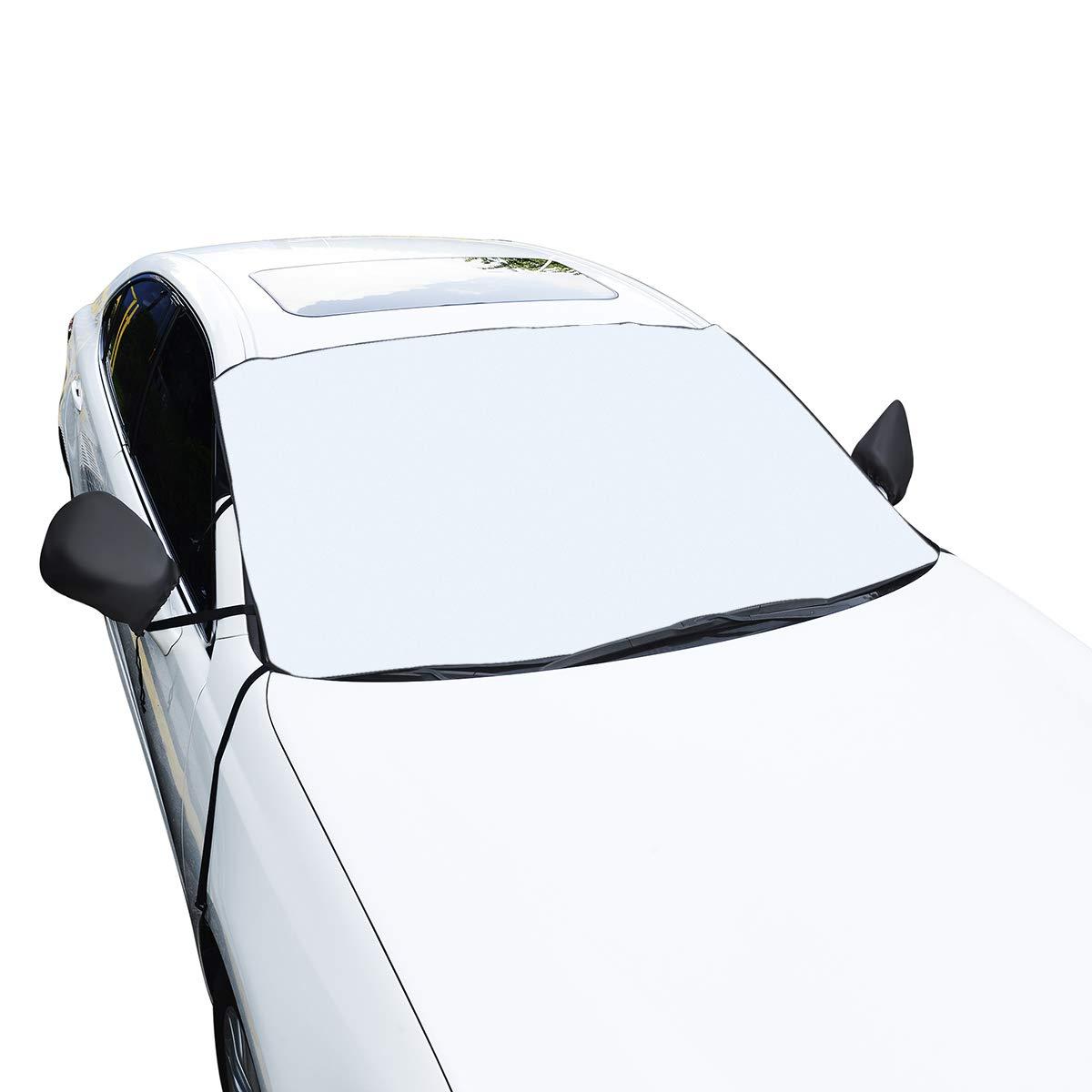 Protezione Parabrezza, SAWAKE Parasole Parabrezza Parasole Auto Telo Parabrezza Auto Copertura Parasole Anti UV Antineve Antighiaccio per Parabrezza (190 * 940 * 150cm) SAWAKEPO84BUK366
