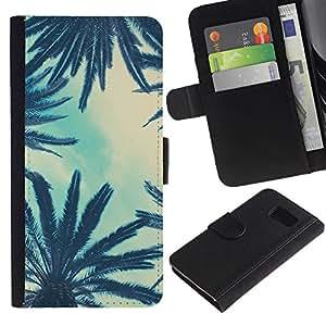 All Phone Most Case / Oferta Especial Cáscara Funda de cuero Monedero Cubierta de proteccion Caso / Wallet Case for Sony Xperia Z3 Compact // Trees Sky View Blue Clouds
