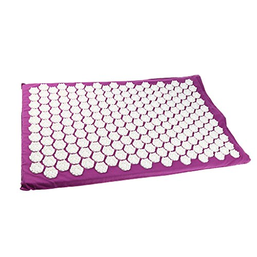 MagiDeal Acupressure Mat Neck Body Muscle Stress Meditation Yoga Massager Mat - Purple by Unknown (Image #8)