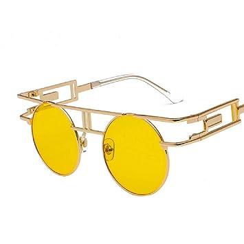 23d403f761 WFF Gafas Retro Europeas y Americanas, Gafas de Sol para Hombre, Coloridas  Gafas de Sol Reflectantes Punk,4,Cm: Amazon.es: Deportes y aire libre