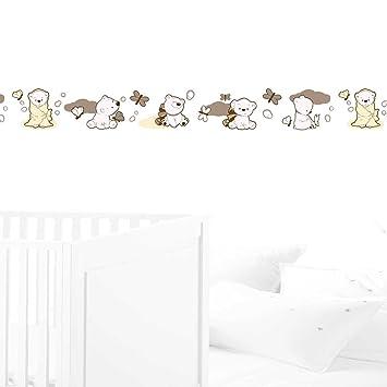 JUJU & COMPAGNIE - Kinderzimmer Wand Bordüre, Niedliche Teddybären 2 ...