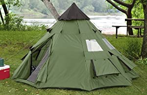 Amazon Com Guide Gear 10x10 Teepee Tent Backpacking