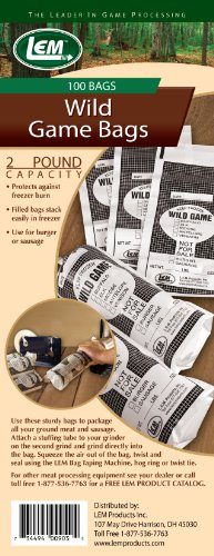 LEM Two Pound Wild Game Bags (100 Bags)