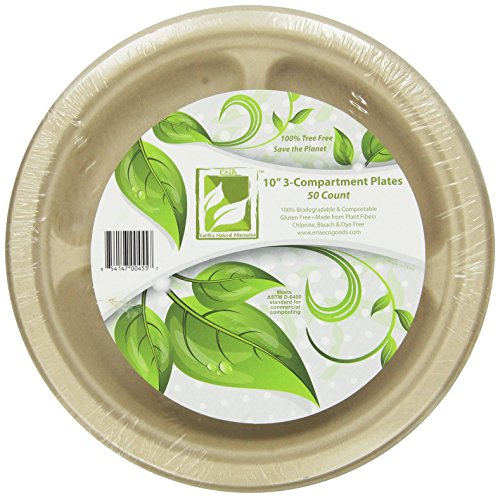 (Earth's Natural Alternative Eco-Friendly, Natural Compostable Plant Fiber 10