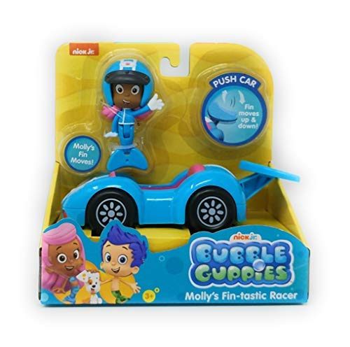 Bubble Guppies Molly's Fin-Tastic Racer Push Car - Fin Moves Up & Doawn! Molly's Fin Moves!