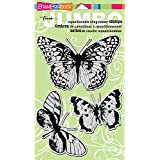 Stampendous Jumbo Cling Rubber Stamp Sets, Butterfly Trio Images