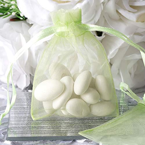 Efavormart 50PCS Mint Organza Gift Bag Drawstring Pouch Wedding Favors Bridal Shower Treat Jewelry Bags - 3