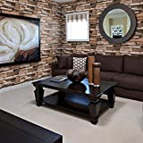"Stone Peel and Stick Wallpaper - Self Adhesive Wallpaper - Easily Removable Wallpaper - 3D Wallpaper Stone Look – Use as Wall Paper, Contact Paper, or Shelf Paper - 17.71"" Wide x 177"" Long (1)"