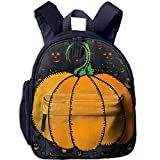 Ugift Cool Print Halloween Pumpkin 2-6 Child Shoulders Bag Birthday Gift Prize Schoolbag