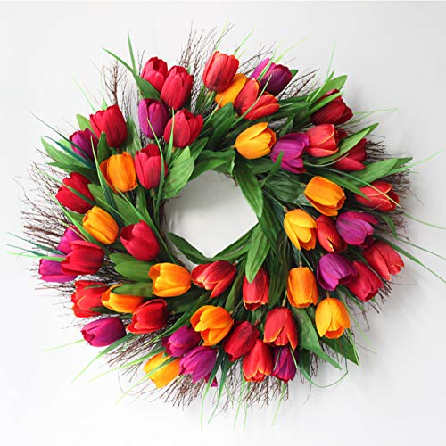 Evoio Artificial Flower Wreath, 17.7