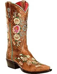 Macie Bean Womens Rose Garden Cowgirl Boot Snip Toe - M8012