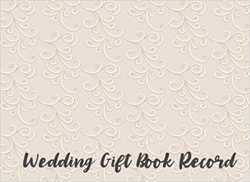wedding gift book record gift log guest book for weddings v3