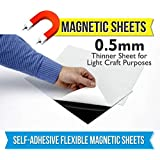 Mfm Toys Self Adhesive Flexible Magnetic Sheet 30X30Cm 0.5Mm Thick (2 Sheets) Art And Craft Rubber Magnets, Div Fridge Magnets Classroom, Magnetic Photo Magnets Sheet