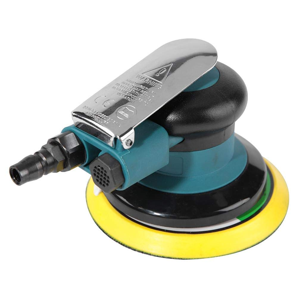 Air Sander 5 inch,Handheld 5'' Air Sander Grinder Polisher Pneumatic Polishing Tool Round by Acogedor