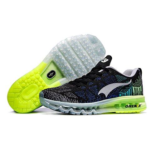 Sportive Sneaker Ginnastica Grigio Uomo Scarpe Air Basse Running da ONEMIX Nero Verde 8gqFYwt