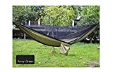Forget the tent This mosquito net camping hammock is very suitable as a tent replacement, light weight, compact and can be used anywhere.  Compact though spacious When folded into its stuff bag, you won't even know it in your backpack! It is small an...