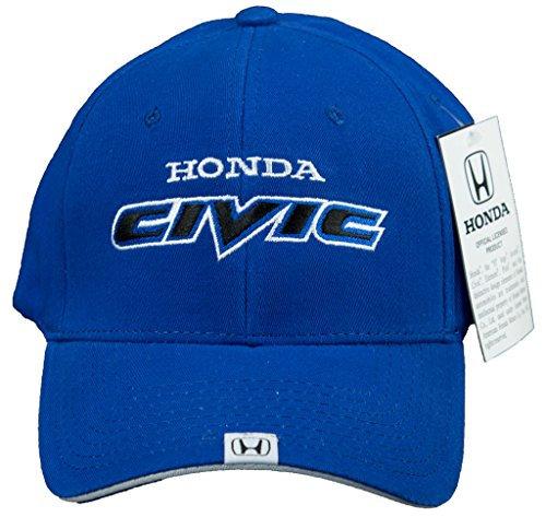 64468f14 Honda Civic Hat Embroidered Logo Flex Fit Cap, Blue - Import It All