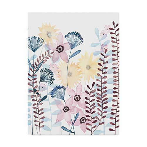 Trademark Fine Art Pastel Posies I by Grace Popp, 35x47-Inch 35x47