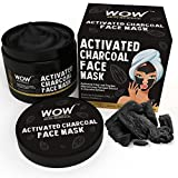 WOW Activated Charcoal Face Mask with PM 2.5 Anti Pollution Shield - Wash Off - No Parabens &...
