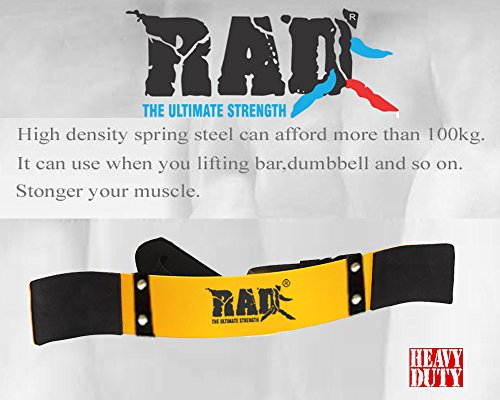 RAD Arm Blaster Body Building Bomber Bicep Curl Triceps Muscle Builder (Yellow)