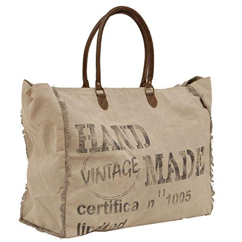 Borsa A Tracolla Vintage In Tela Da Viaggio Shopper Shopper - By Modastore De