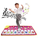 Dora Bridal Keyboard Play Mat Electronic Music Carpet Blanket Colorful Dance Mat Touch Play Safety Learn Singing 8 Keys 12 Selectable Sounds Adjustable Vol. for Kids Toddlers