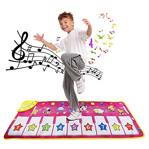 (Dora Bridal Keyboard Play Mat Electronic Music Carpet Blanket Colorful Dance Mat Touch Play Safety Learn Singing 8 Keys 12 Selectable Sounds Adjustable Vol. for Kids Toddlers)