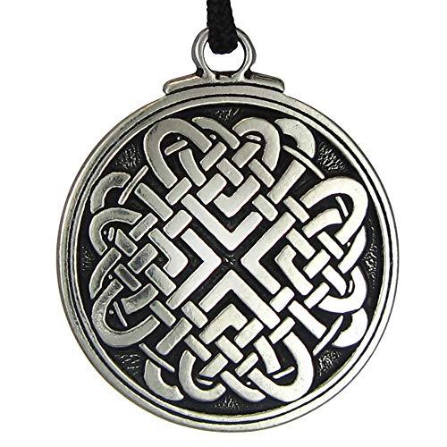 (Celtic Knot Woven Heart Pendant Jewelry Irish Necklace Viking Gebo Love Rune Jewelry)