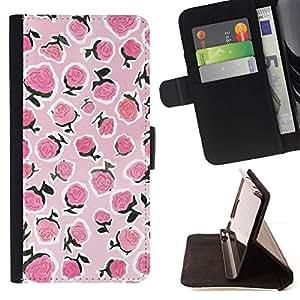 Momo Phone Case / Flip Funda de Cuero Case Cover - Blanc baies d'été - Samsung Galaxy J3 GSM-J300