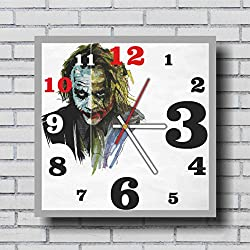 The Batman and The Joker 11.4'' Handmade Wall Clock - Get unique décor for home or office – Best gift ideas for kids, friends, parents and your soul mates