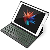 Inateck Backlit iPad Bluetooth Keyboard Case, Keyboard Cover for 9.7 inch iPad 2018/2017 and iPad Air1 with Multi-Angle Stand,Black