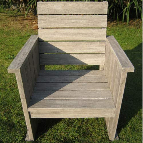 STRANDGUT07 lounge chair teak garden chair grey wash