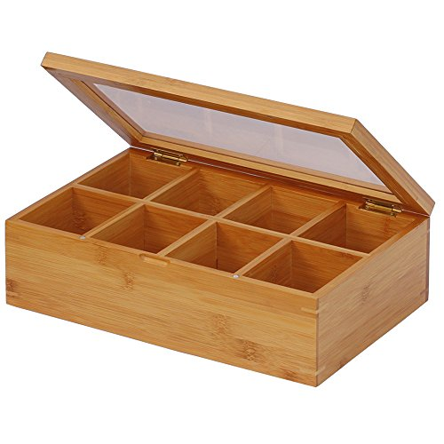 Oceanstar Bamboo Tea Box, Natural