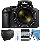 Nikon COOLPIX P900 Black with Camera Case, 32GB High Speed Class 10 Memory Card & more