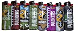 Bic Lighters Green Bay Packers NFL Officially Licensed Full Size 8pc Set