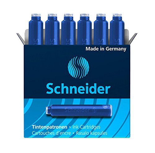 Schneider Fountain Pen Ink Cartridges Ink Refills 2 packs / 12 cartridges - 12 Cartridges Pen Ink Fountain
