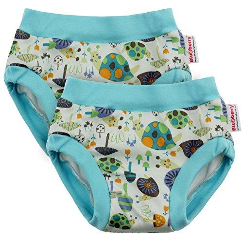 Blueberry Training Pants, Bundle of 2 (Medium, Snails)