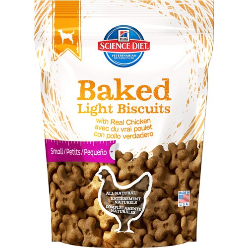 Hill's Science Diet Baked Light Biscuits with Real Chicken Small Dog Food, 9-Ounce Pouch, My Pet Supplies