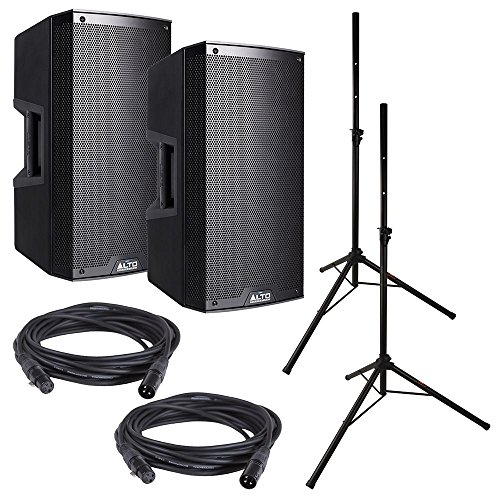 Alto TS212W Powered Speaker Bundle w/ Stands Cables