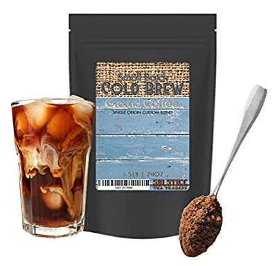 Small Batch Cold Brew Ground Coffee (1.5 Pounds), Single Origin Custom Blend Coarse Ground Coffee w/ Perfect Grind for Cold Brew from Solstice Tea Traders