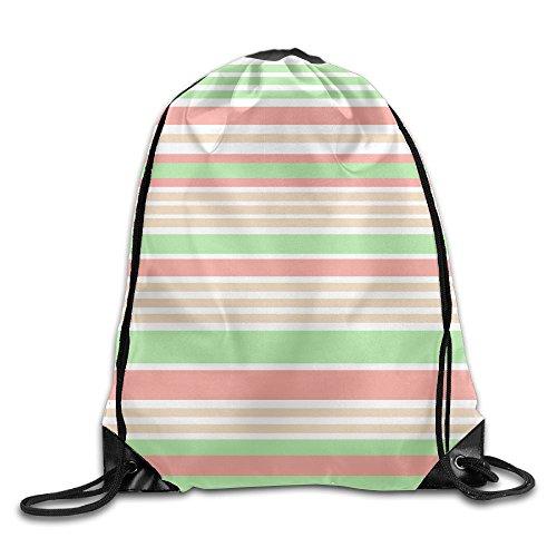 Dodge Challenger Costume (Peach Orange Yellow Beige Stripes Beam Drawstring Travelling Bundle Pocket Canvas Storage Gym Bag Ball Backpack)