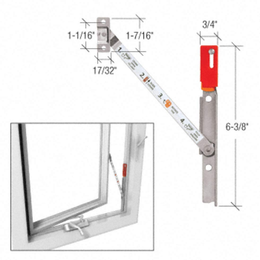 CRL Truth Left Hand Stainless Steel Casement Window Opening Control Device by CR Laurence (Image #2)