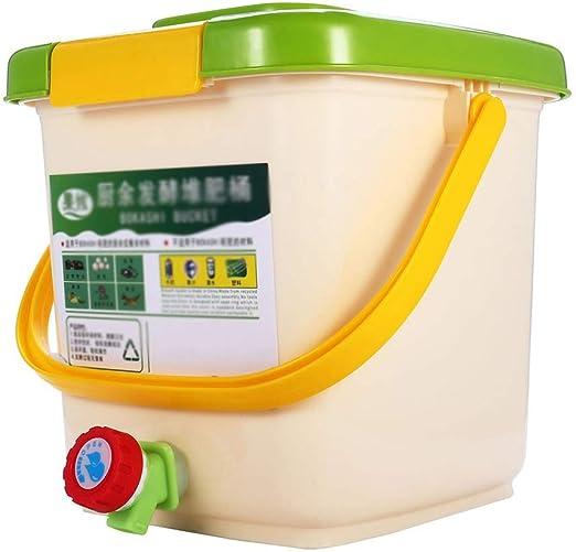 XUANLAN 12L Compost Papelera de Reciclaje compostador aireado Compost Bin PP orgánico Hecho en casa Bote de Basura del Cubo del jardín de Cocina Alimentación Papeleras: Amazon.es: Hogar