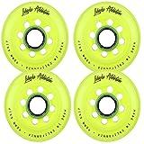 Labeda Addiction Inline Roller Hockey Skate Wheels Set of 4 (Yellow, 80mm)