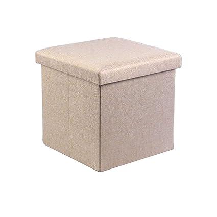 Taburete de madera Taburete de almacenamiento rectangular ...