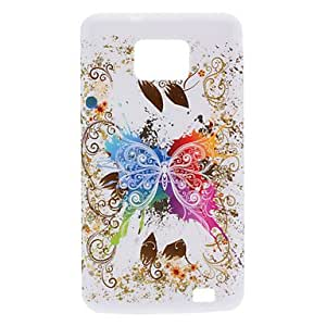 LZX Butterfly Design Soft Case for Samsung Galaxy S2 I9100