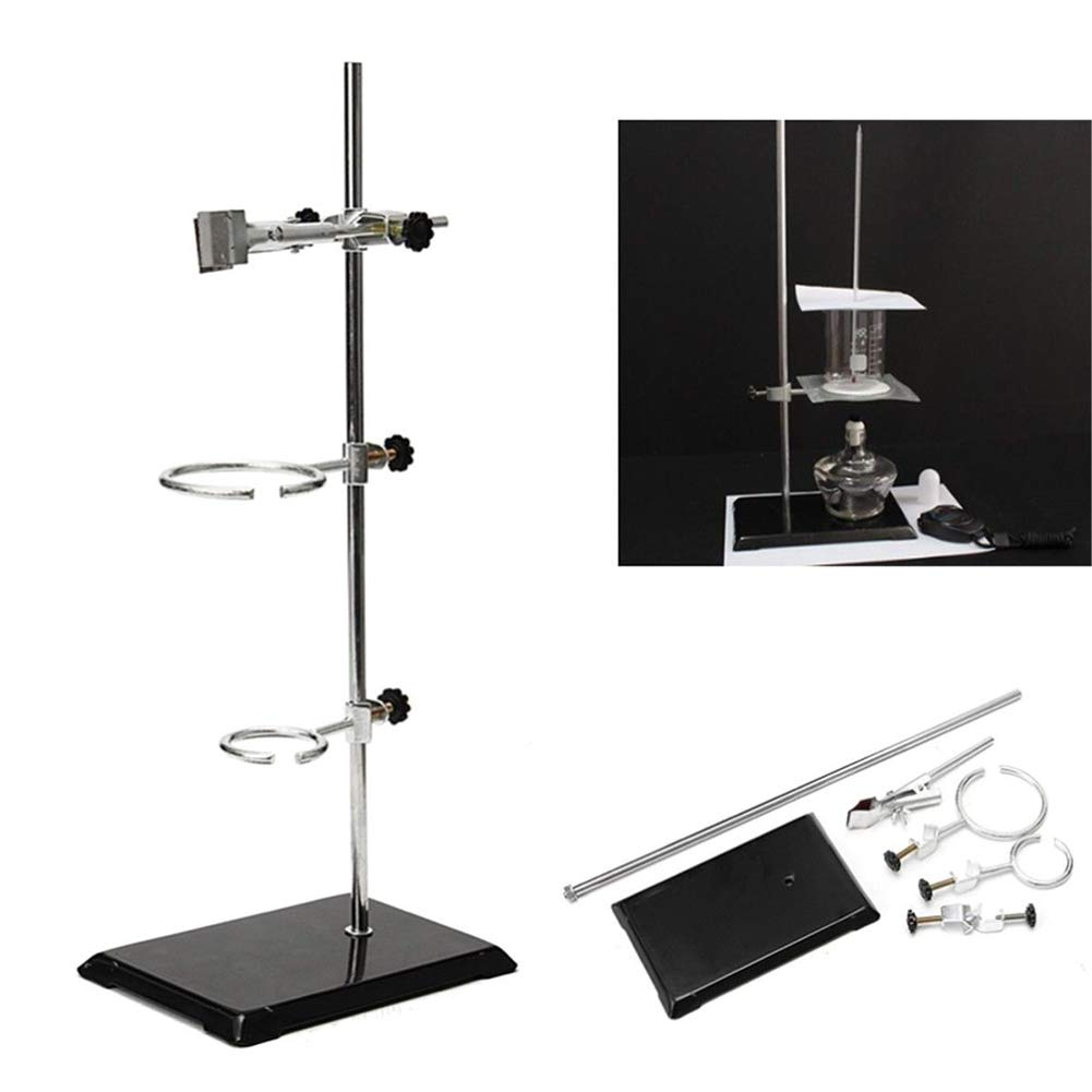 50CM Lab Support Stands Support Ring Chemistry Bottle Tube Clamp Bracket Distillation Flask Fixture by US DELIVER