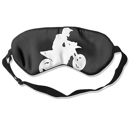 Silhouette Of Motocross Rider Sleep Eye Mask 100% Mulberry Silk Blindfold Travel Sleep Cover Eyewear