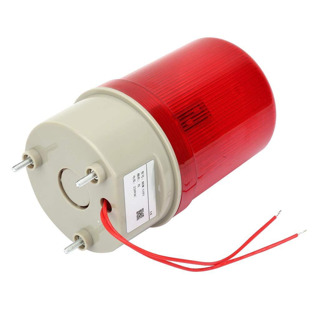 Voyant Lumineux Rotatif Keenso Feu dAvertissement Tournant /à LED Rouge Feu de Signal dUrgence 220VAC 97 mm avec Rondelle et Ecrou